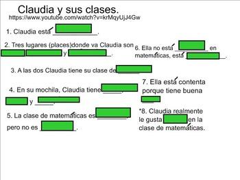 Middle/High School Interactive Spanish Possessives, School