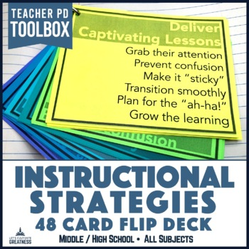 Middle/High School Unit and Lesson Planning Strategies: 48 Card Flip Deck
