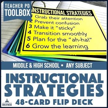 Middle/High School Lesson Planning Strategies: 48 Card Flip Deck