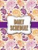 Middle/High School Paisley Theme Teacher Binder - Editable