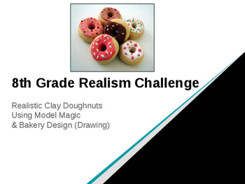 Middle & High School Realism Clay Doughnut Project with Model Magic