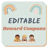 Middle/High School Reward Coupons *EDITABLE*