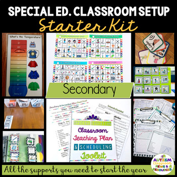 Middle-High School Special Education-Autism Classroom Starter Bundle