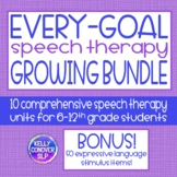 Middle & High School Speech Therapy Every-Goal 10 Unit Gro