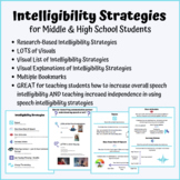 Middle & High School Speech Therapy Intelligibility Strategies LOTS of Visuals