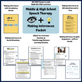 Middle & High School Speech Therapy Inferencing Activities