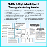 Middle & High School Speech Therapy Vocabulary Bundle