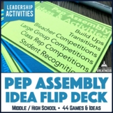Middle High School Spirit Pep Assembly Activity 44-Card Flip Deck