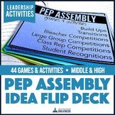 Pep and Spirit Assembly Idea 44-Card Flip Deck