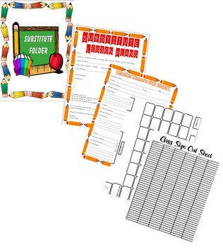 Middle & High School Substitute Folder Bundle Fully Editable