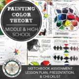 Middle, High School Visual Art Assignment: In-Depth Color Mixing in Sketchbook