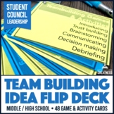Middle High ASB Student Council Team Building Activities 48-Card Flip Deck