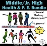 Middle School Health & P.E. SUPER Bundle: Save $83.00 on T