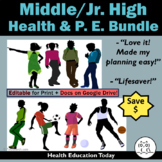 Middle School Health & P.E. SUPER Bundle: Save $83.00 on These #1 Best-Sellers!