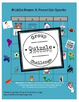 Middle Names and Favorite Sport- Group Quizzle Challenge