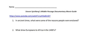 Middle Passage Documentary Movie Guide