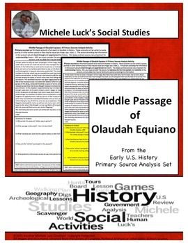 Middle Passage Equiano American Document Analysis Activity