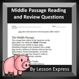 Middle Passage Reading and Review Worksheet