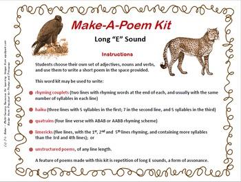 "Make-a-Poem Kit: Long ""E"" Assonance"