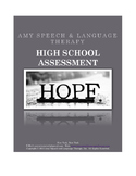 Middle Schhol & High School Speech & Language Assessment