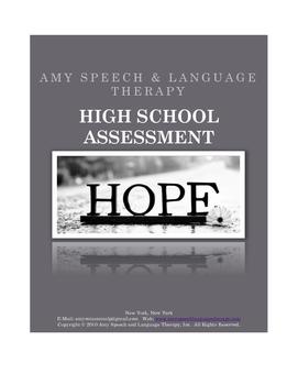 Middle Schhol & High School Speech & Language Assessment