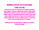 Middle School Accountable Talk Cards