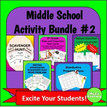 Middle School Math Activity Bundle #2
