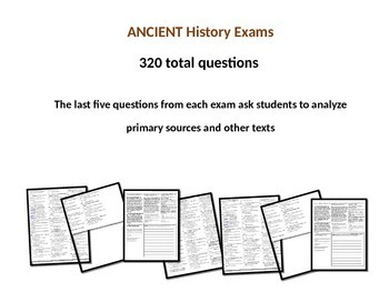 Middle School Ancient History Exams -GREECE- 40 Questions, Common Core Inspired