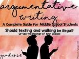 Middle School Argumentative Writing
