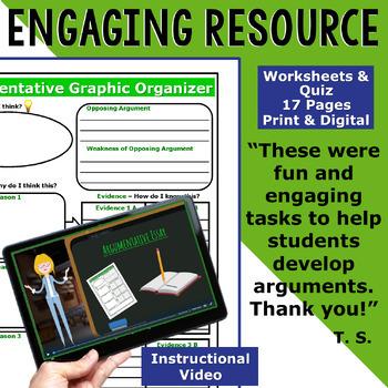 Argumentative Writing Lessons Prompts BUNDLE!! w/ Digital Resources  10 Lessons!