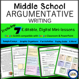 Argumentative Essay Writing for Middle school-Distance Learning