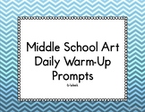 Middle School Art Daily Warm-Ups 6-Week