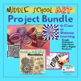 Distance Learning Art: Middle or High School Bundle