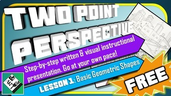 Middle School Art Lesson: Drawing in 2 Point Perspective (Lesson 1)