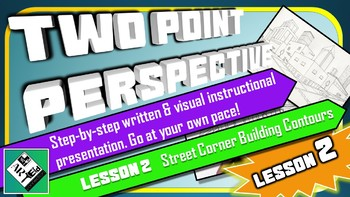 Middle School Art Lesson: Drawing in 2 Point Perspective (Lesson 2)