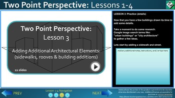 Middle School Art Lesson: Drawing in 2 Point Perspective (Lesson 3)