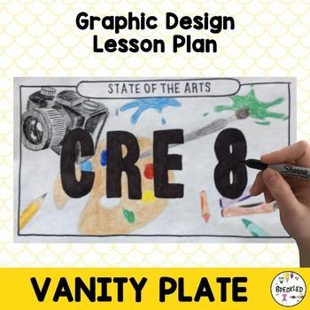 Middle School Art Lesson Plan. Graphic Design Vanity License Plates