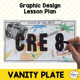 Middle School Art Lesson Plan. Graphic Design Vanity License Plates