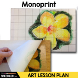 Middle School Art Lesson Plan. Printmaking and Grid Drawing Unit.