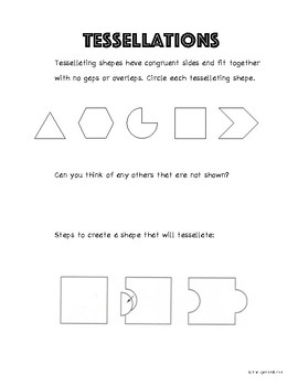 Middle school art lesson plan tessellations art lesson - Set design lesson plans middle school ...