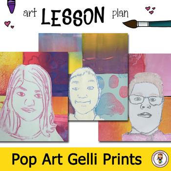 Middle School Art Printmaking Unit -Self Portrait Pop Art Lesson Plan