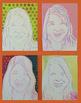 Middle School Art Printmaking Unit -Self Portrait Pop Art