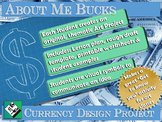 """Middle School Art Project: """"About Me Bucks"""" A Currency Design Project."""