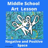 Middle School Art Sub Plan - Distance Learning - Negative