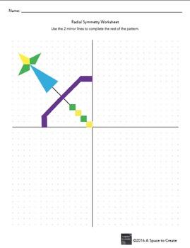 Middle School Art Sub Plan - Radial Symmetry Worksheets