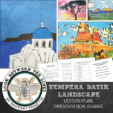 Middle School Art or High School Introduction to Art: Tempera Batik Painting