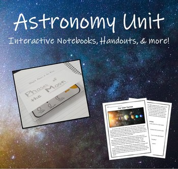 Astronomy Unit (Intro to Solar-System and Sun Earth Moon System)