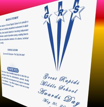 Middle School Awards Program Agenda (EDITABLE/Template)