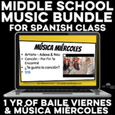 Middle School BUNDLE - Música miércoles & baile viernes for a year
