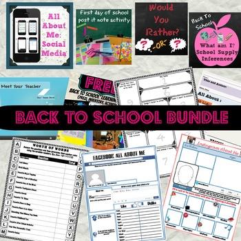 Middle School Back to School Bundle